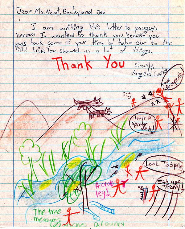 A scanned letter to Elizabeth Neat